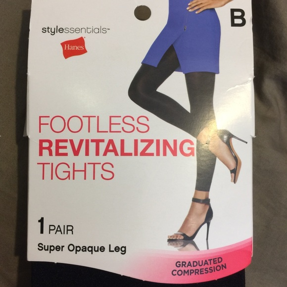 93ca9d55889 Graduated Compression Opaque Footless Tights NWT B